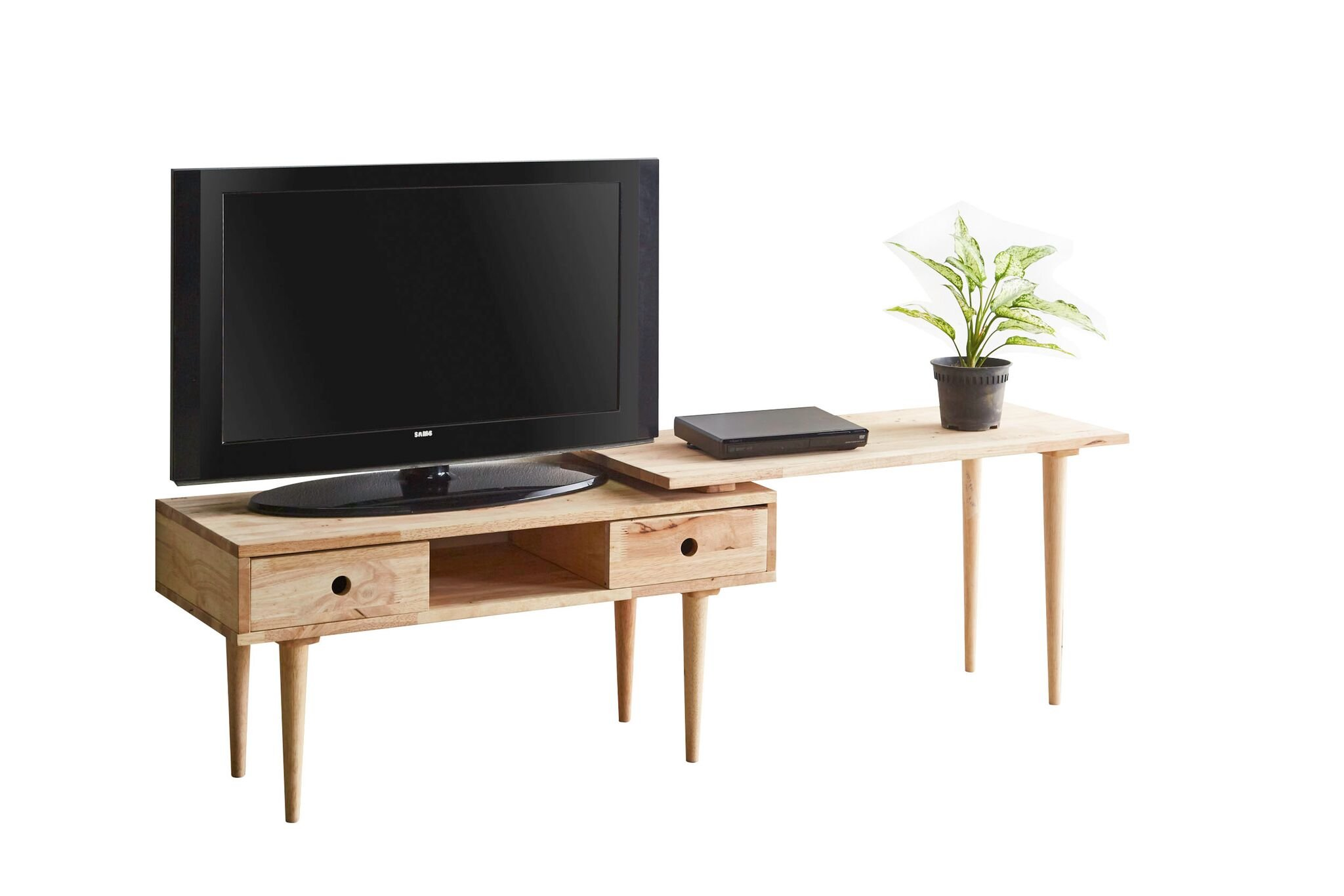 """Major-Q 35"""" Natural Wooden TV Stand/Coffee Table with Extension, 9081950 - Major-Q is a registered furniture trademark brand. Please search Major-Q for more high quality furniture related products All Major-Q Products will be covered with Limited Major-Q Warranty. Please buy with confidence. TV Stand w/Extension Top, 35"""" x 16"""" x 19""""H - tv-stands, living-room-furniture, living-room - 61xpej8UntL -"""