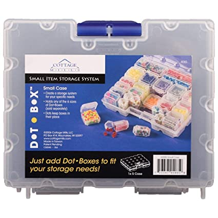 Use this empty case to create a custom storage system to meet your needs by filling it with any of 6 sizes of DotBoxes sold separately.