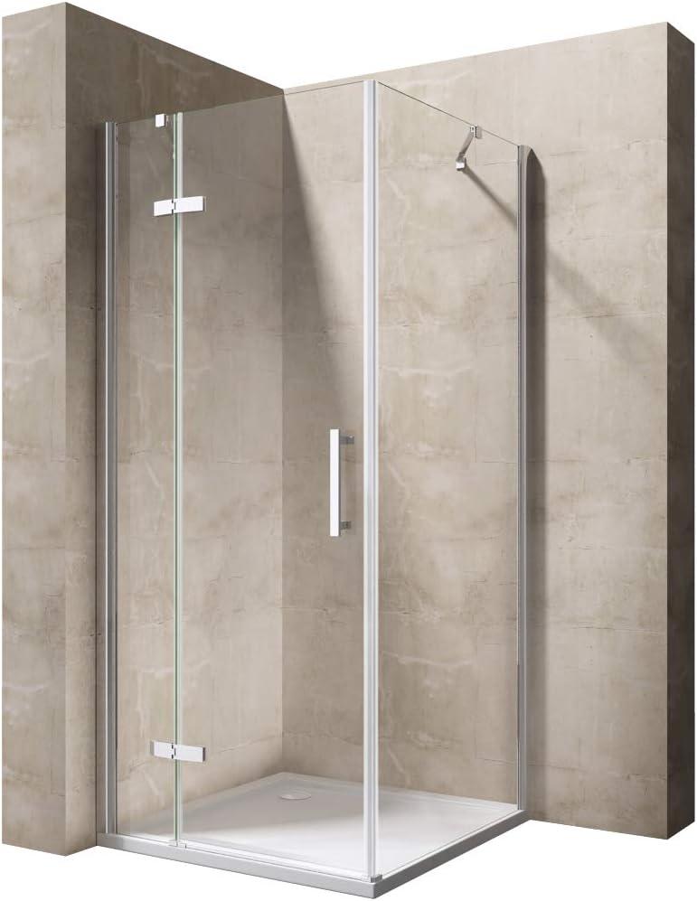 TBH: 70 x 140 x 195 cm Mampara de ducha cabina manhattan05 K, 8 mm de cristal de seguridad monocapa Klarglas, incluye Nano en ambos lados de recubrimiento: Amazon.es: Bricolaje y herramientas
