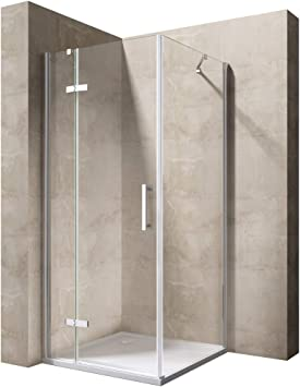 TBH: 70 x 80 x 195 cm Mampara de ducha cabina manhattan05 K, 8 mm de cristal de seguridad monocapa Klarglas, incluye Nano en ambos lados de recubrimiento: Amazon.es: Bricolaje y herramientas