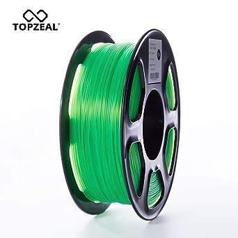 TOPZEAL Filamento de impresora 3D, filamento PLA de color ...