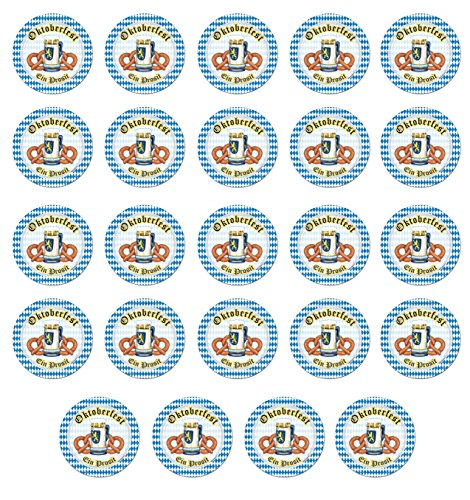 Beistle S58007AZ3 Oktoberfest Plates 24 Piece, Multicolored