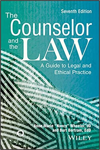 The counselor and the law a guide to legal and ethical practice the counselor and the law a guide to legal and ethical practice seventh edition fandeluxe Choice Image
