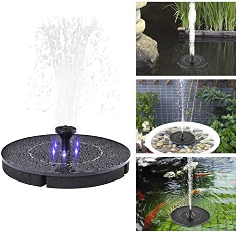 ENDJYO Fuente De Agua Solar, Fuente De Baño para Pájaros Agua ...