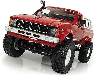 EisEyen WPL C-24 2,4G 1:16 Pick-up Truck 4WD RC Auto Ferngesteuert Robot vehículo Camiones Juguetes Azul/Rojo: Amazon.es: Hogar