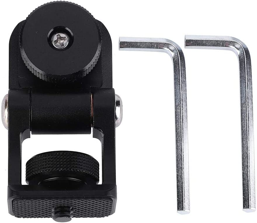 Neufday Mini Hot Shoe Stand Monitor Mount 180 Degree Base Rotations with Screw Fixture