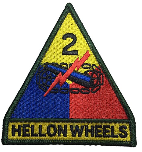 2nd Armor Hell on Wheels US Army Full Color Military DIY Applique Embroidered Sew on Iron on Emblem Badge Costume Patch