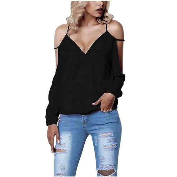 FAMILIZO Camisetas Escote Mujer Camisetas Mujer Verano Blusa Mujer Elegante Camiseta Mujer Manga Larga Camisetas Mujer