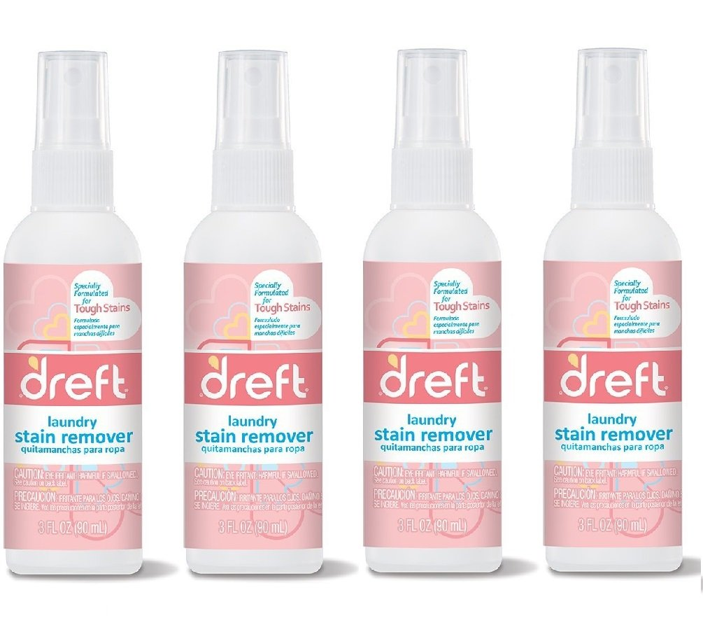 Dreft Stain Remover - 3oz Travel Size - (Pack of 4) by NEHEMIAH MANUFACTURING (Image #1)