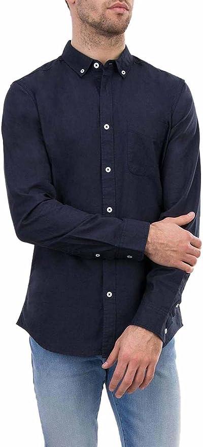 Tiffosi Camisa Hombre Oxford Slim Fit Marino S Azul: Amazon.es: Ropa y accesorios