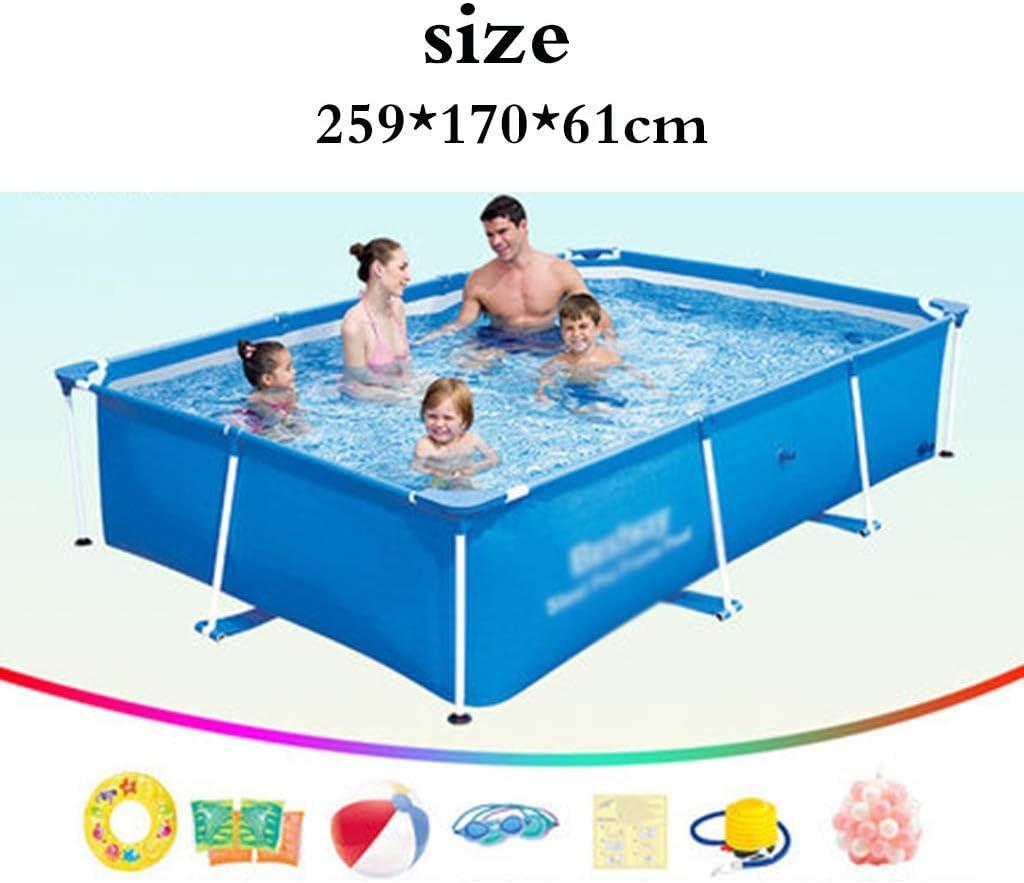 Piscinas Soporte niños caseros reproducción Adulto Entrenamiento (Color : Blue, Size : 259 * 170 * 61cm)