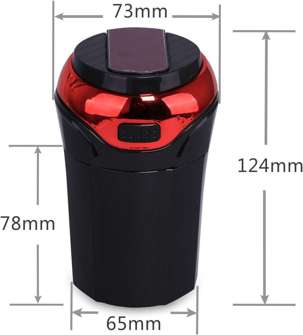 Portable Tasse avec Amovible sans Fum/ée L/ég/ère et Lumineuse LED Bleue Rechargeable USB de Voiture Cendrier avec Couvercle Avril Tian de Voiture Cendrier Cendrier