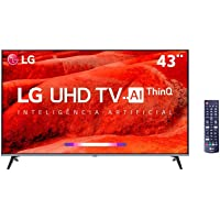 "Smart TV LG 43"" 4K HDR Ativo 43UM7510, ThinQ AI Inteligencia Artificial, DTS Virtual: X"