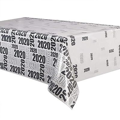 Unique Party 63666 2020 Clear Plastic Tablecloth, 9ft x 4.5ft: Home & Kitchen [5Bkhe0201291]