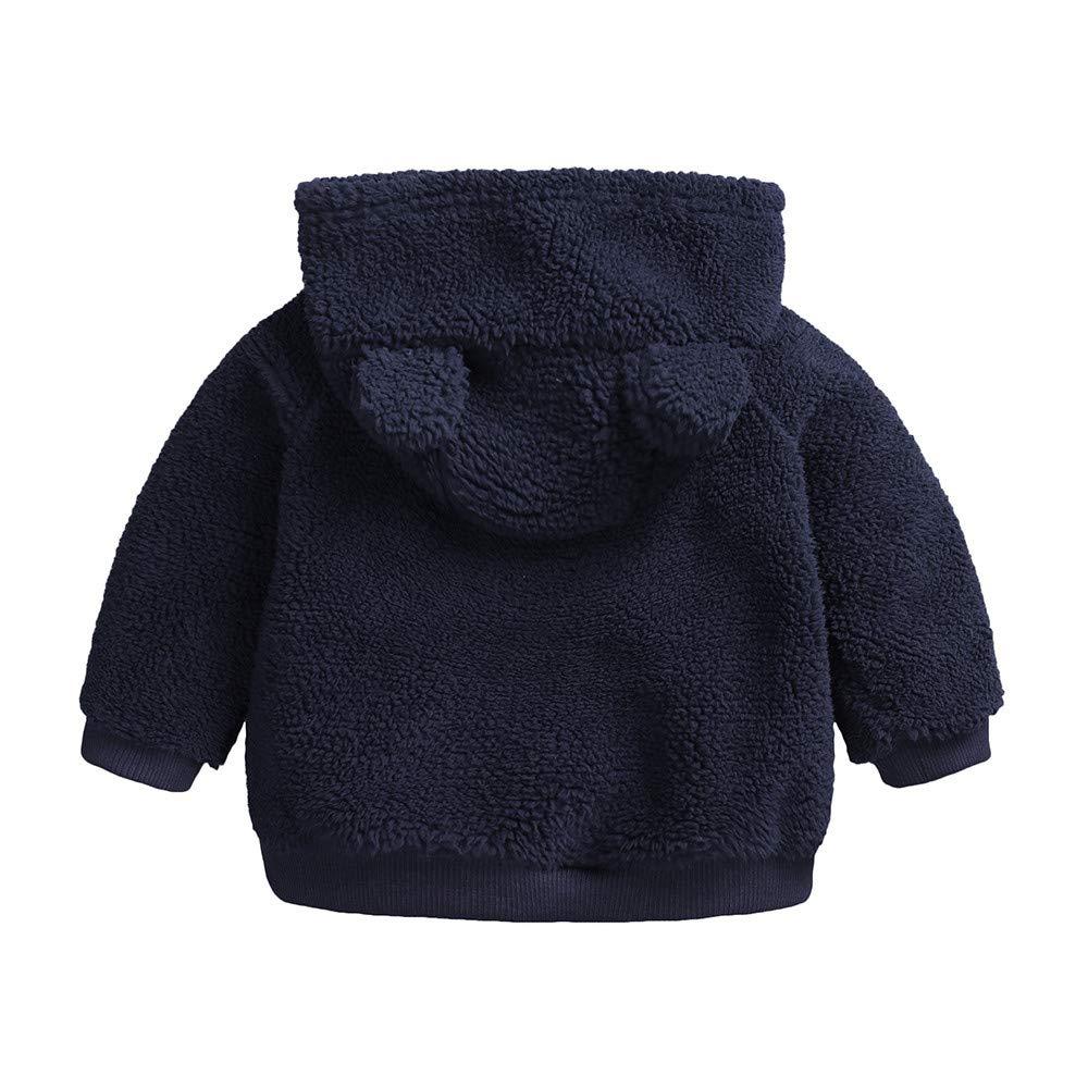 HOMEBABY Newborn Infant Baby Boys Girl Cartoon Ear Jacket Hooded Hoodies Pullover Sweatshirt Tops Warm Clothes Coat Velvet