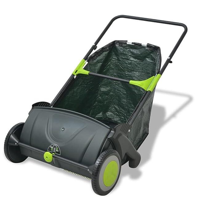 vidaXL Barredora Ligera de Jardín Bolsa de Basura 103 L Colores Negro y Verde