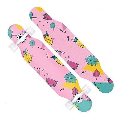 Aniseed Fractal Complete Skateboard Longboard 9.0 X 42.5-Inch Pineapple Pattern : Sports & Outdoors