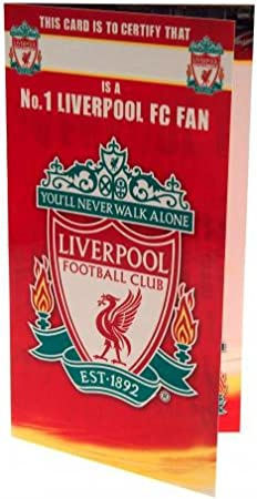 Personalised Birthday Card NUMBER 1 FAN Liverpool F.C