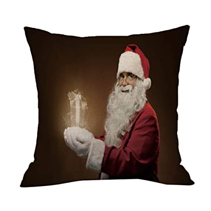 Amazon QHB Merry Christmas Square Pillowcases Christmas Interesting Decorative Pillows For Bed Clearance