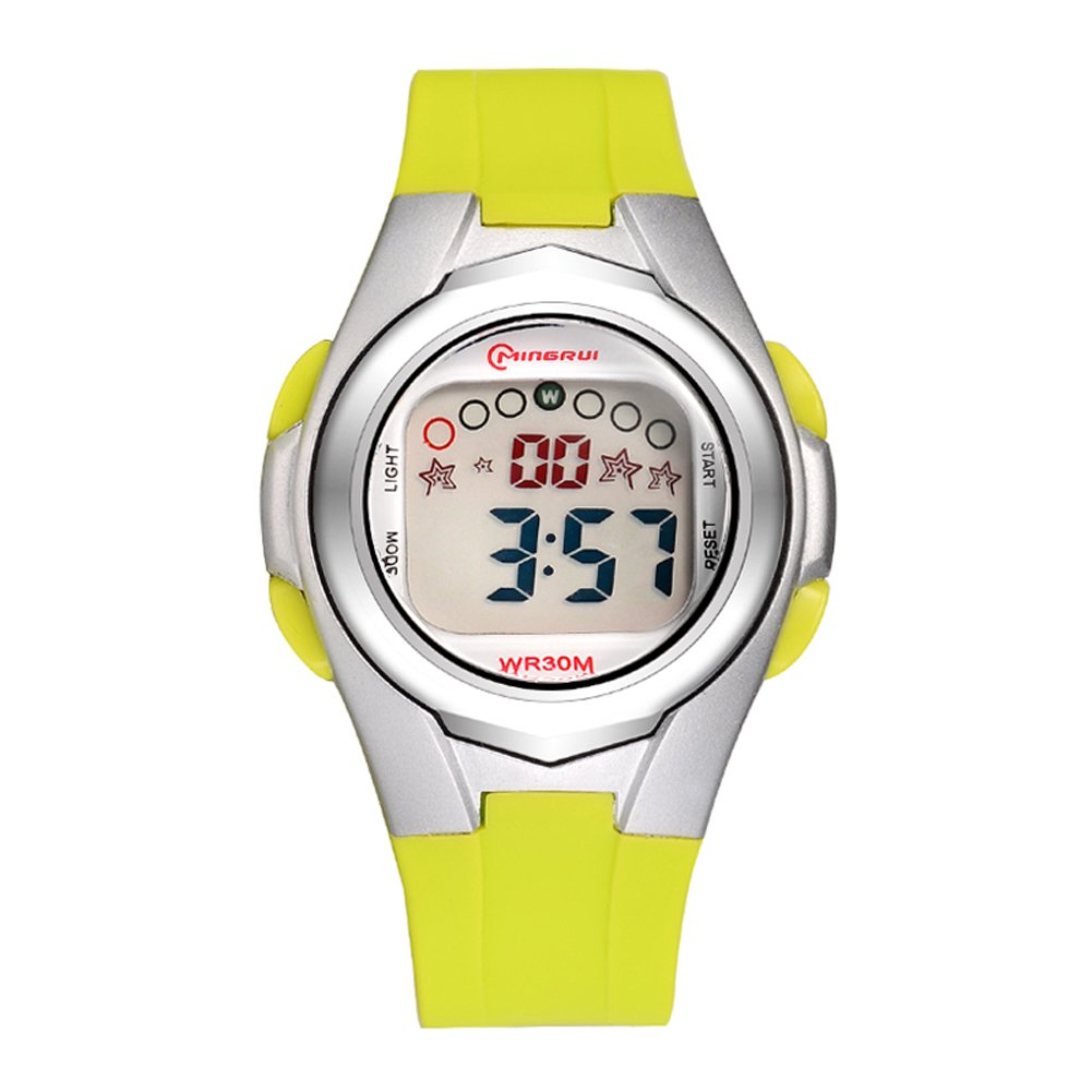 Euimuo Digital Backlight Watch for Girls Sport Chronograph by Euimuo
