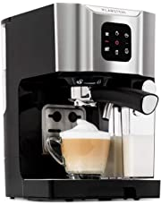 Klarstein BellaVita • Máquina de café • 3 en 1 para espresso, capuccino y latte macchiato • 0,4 l espumadora de leche • 1450 W • 20 bares • Depósito de 1,4 litros • Sistema de autolavado • Gris