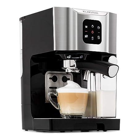 Klarstein BellaVita - Máquina de café , 3 en 1 para espresso, capuccino y latte macchiato , 0,4 l espumadora de leche , 1450 W , 20 bares , Depósito ...
