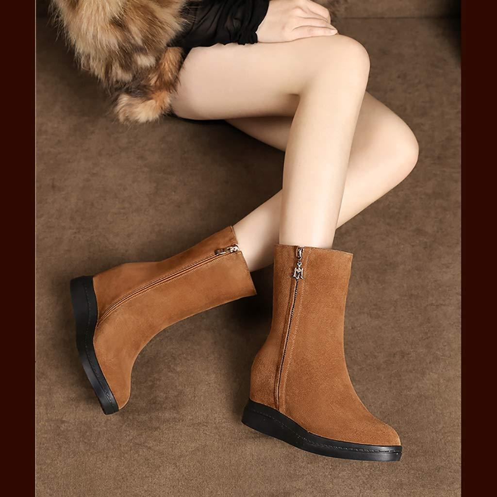 YUBIN Frauen-Plattform Und SAMT Winter Schnee Stiefel, Stiefel, Stiefel, Eine Vielzahl Von Farben, Größen (Farbe   braun, größe   EU 37 US 5 UK 4 JP 23.5cm) c0a67a