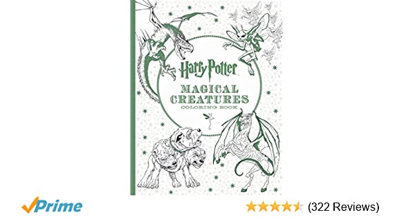 Harry Potter Magical Creatures Coloring Book Scholastic