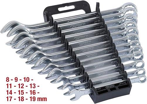 KS Tools 517.0052 Pack Llaves combinadas, en Caja Ventana, Bocas pulidas (tamaño: 8-19 mm), Set de 12 Piezas: Amazon.es: Bricolaje y herramientas