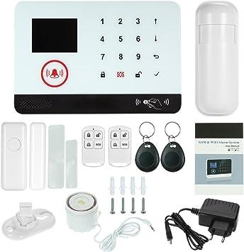 OWSOO 433MHz Sistema de Alarma GSM SMS, Pantalla LCD, Control ...