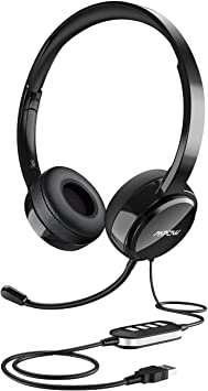 Amazon Com Mpow Usb Headset All Platform Edition With 3 5mm Jack Stereo Computer Headset With Microphone Noise Canceling Skype Headphones W Comfort Fit Earpad Inline Volume Control For Pc Laptop Cell Phone Computers Accessories