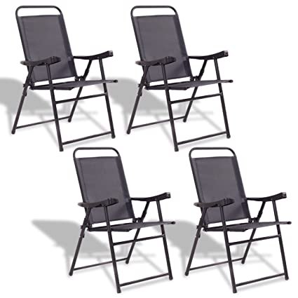 Amazon.com: NanaPluz - 4 sillas plegables para patio con ...