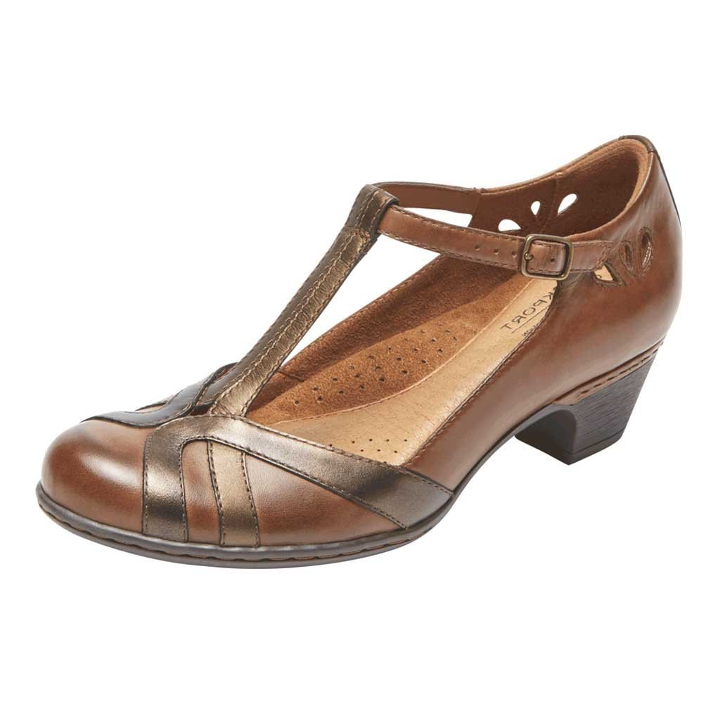 Rockport Women's Cobb Hill Angelina Dress Pump B01MYDX3SA 9 B(M) US|Tan Multi