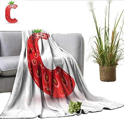 bed66b5c4b42d Amazon.com: ScottDecor Letter C Lightweight Thermal Blankets ...