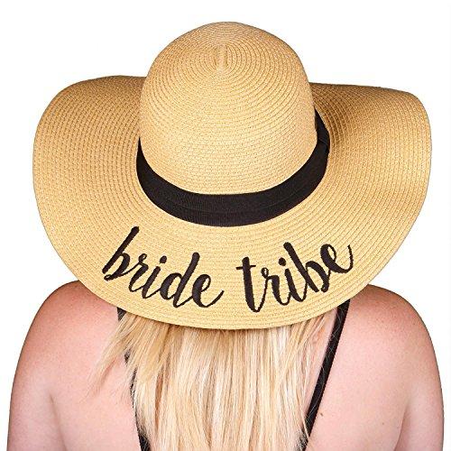 H-2017-BT Funky Junque Bridal Sun Hat - Bride Tribe