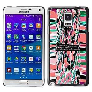 Paccase / SLIM PC / Aliminium Casa Carcasa Funda Case Cover - Pattern Motivational Quote Text - Samsung Galaxy Note 4 SM-N910F SM-N910K SM-N910C SM-N910W8 SM-N910U SM-N910