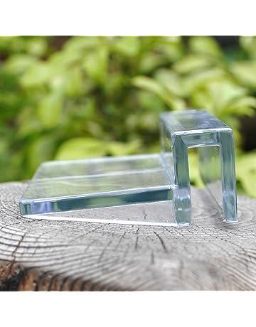 SUPEWOLD Superewold - Juego de 4 Clips de plástico para Acuario, Soporte Transparente para Acuario