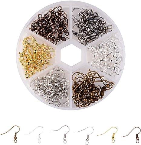 Amazon Com 120 200pcs Diy Earring Findings Earrings Clasps Hooks