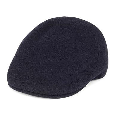 Gorra plana 507 de lana sin costuras de Kangol - Azul Marino - L ...