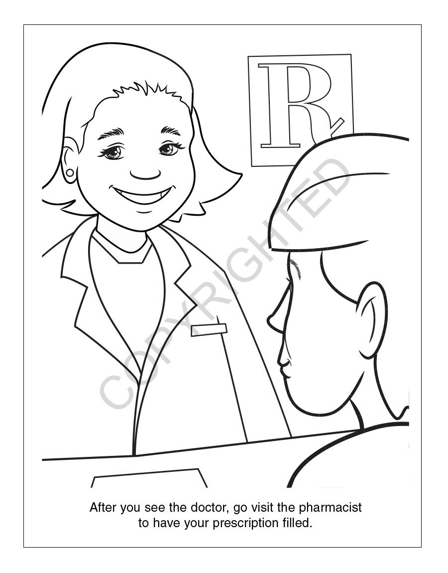 A Trip to The Pharmacy Kid's Coloring & Activity Books in Bulk (Quantity of 250) - Customize with Your Information - Pharmacy Promotional Item by Safety Magnets (Image #3)