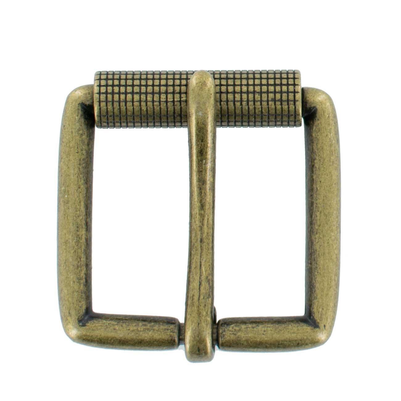 """Hanks 1.5"""" Replacement Belt Buckle, Antique Roller Buckle – 100 Year Warranty"""