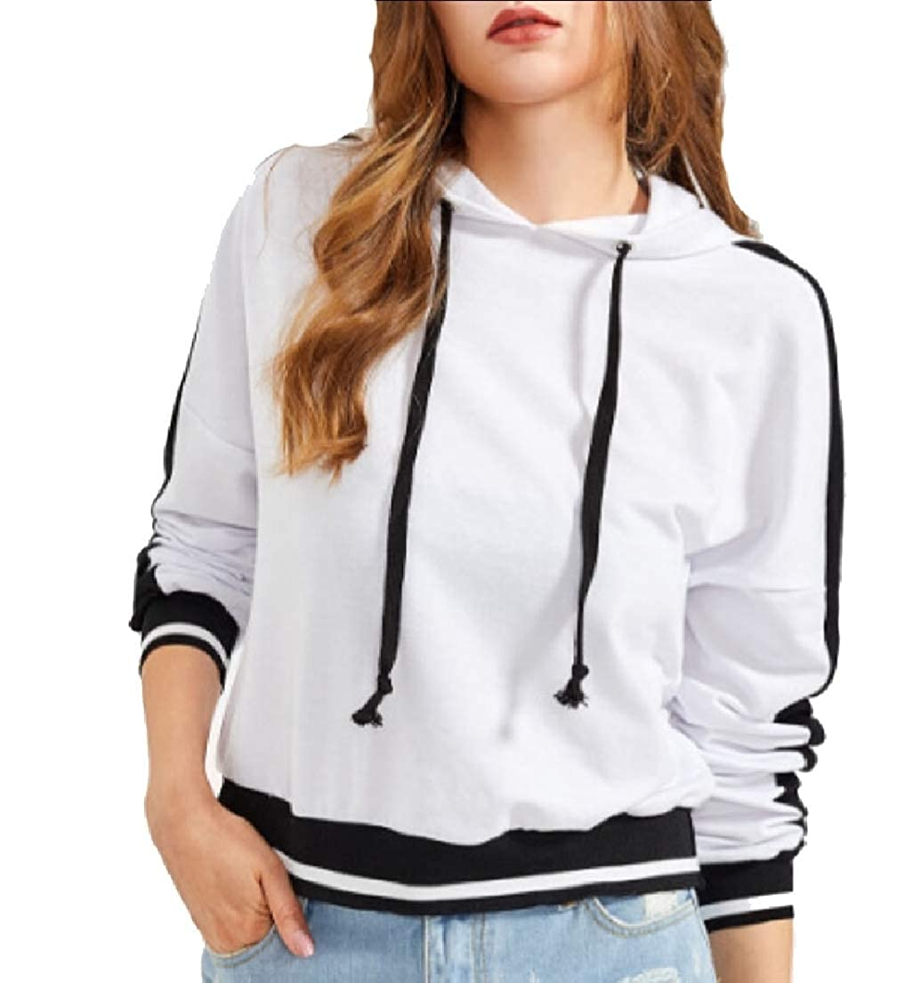 UNINUKOO Unko Women Casual Long Sleeve Hoodie Pullover Tops Sweatshirts Jumper Blouse