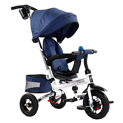 Triciclo Plegable para Niños Bicicleta para Bebés Rueda Inflable Libre Carrito para Bebés 1-3