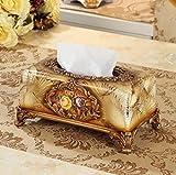 Hyun times European high-grade resin carved tissue box napkin box fashion creative home decor retro luxury pumping tray