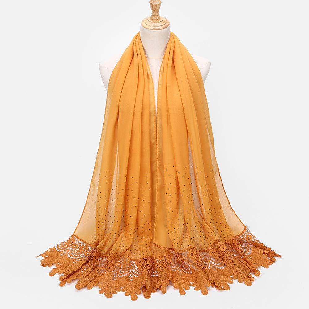 Amphia Forme a señoras el pañuelo largo musulmán de la bufanda del ...