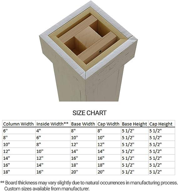 Ekena Millwork Colurs06x072stuf Rough Sawn Endurathane Faux Wood Non Tapered Square Column Wrap 6 W X 6 H Unfinished Home Improvement Amazon Com