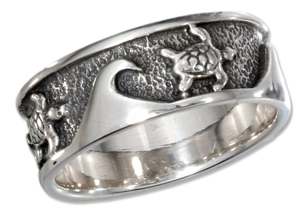 CloseoutWarehouse Sterling Silver Ocean Wave Plain Ring