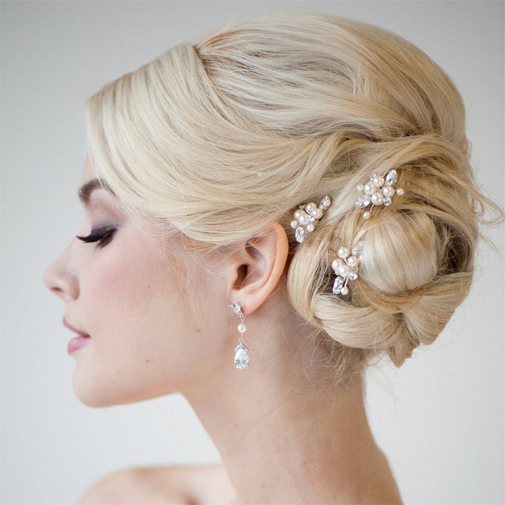 Amazon unicra bridal wedding hair pins for women and girls amazon unicra bridal wedding hair pins for women and girlspack of 3 beauty junglespirit Image collections
