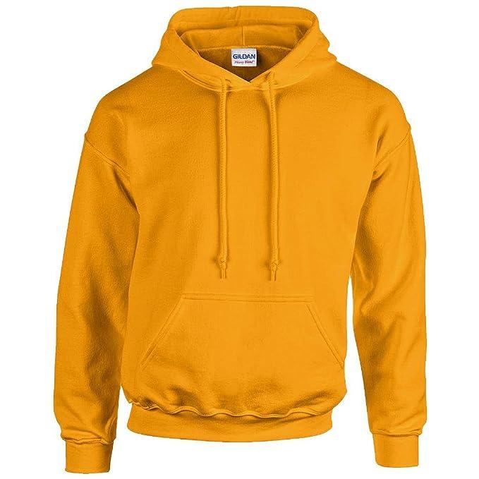 GILDAN - Unisex Sudadera con capucha Pesado Blend - algodón, oro, 50