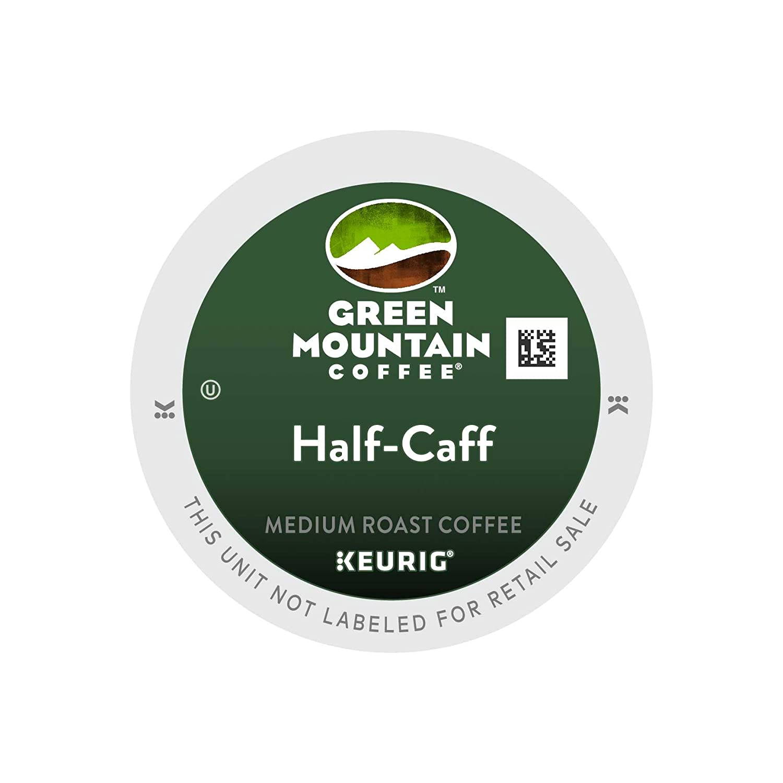 green mountain coffee half caff keurig single serve k cup pods